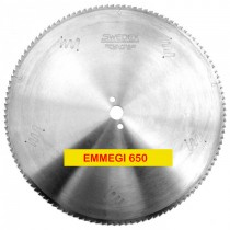 650mm x 108Teeth - Triple chip positive for aluminium & plastics - FOR EMMEGI SCA650